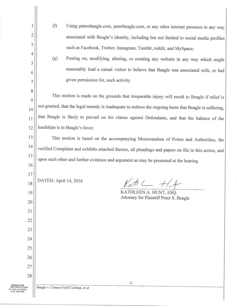 Amended Motion for Preliminary Injunction scan, Beagle_Page_03